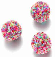 Pompoms kleurrijk 100 stuks