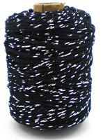 Cotton cord zwart/zilver