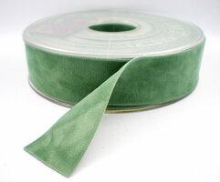 Fluweel lint DZ Cobalt groen,25mm