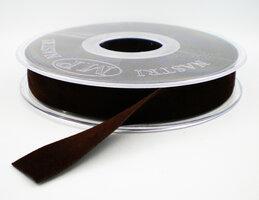 Fluweel lint DZ donkerbruin,15mm