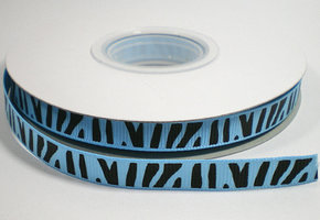 Zebra lint blauw,9mm