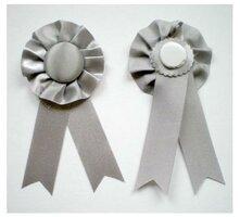 Rozet grijs 3 stuks