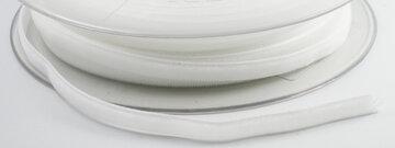 Fluweel lint 6mm wit