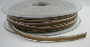 Fluweel lint 6mm Taupe