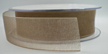 Organza lint taupe 25mm