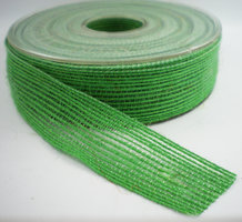 Jute band groen 25mm