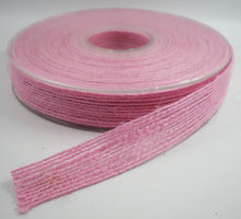 Jute band roze 15mm