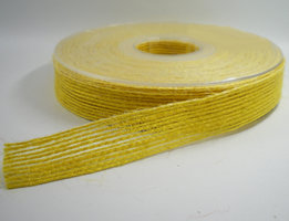 Jute band geel 15mm