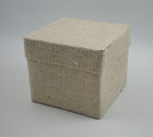 Cotton square box naturel 6x
