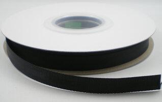 Satijn grosgain lint zwart,5.5mtr