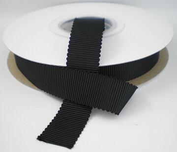 Petersham lint zwart|16mm