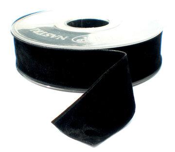 Fluweel lint DZ zwart 40mm