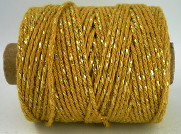 Cotton cord oker/goud