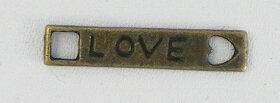 Love bedeltjes,brons 20mm