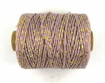 Cotton cord antiek lila/goud