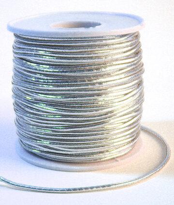 Elastiek rond zilver 1mm 200mtr