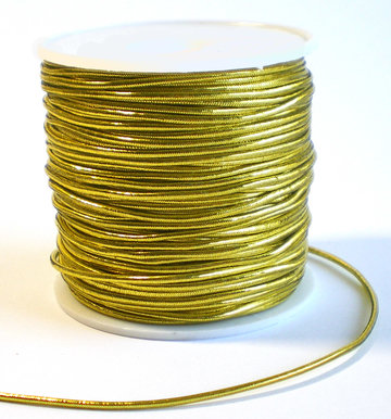 Elastiek rond goud 1mm 200mtr
