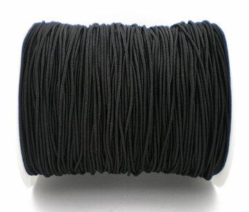 Elastiek rond zwart 1mm 200mtr