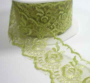 Charming lace, fris groen kant