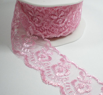 Charming lace, roze kant