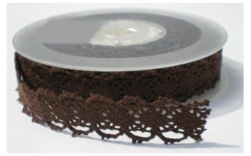 Bruin folk lace,cotton kant