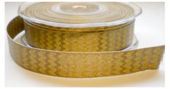 Beige/goud band, 15mtr