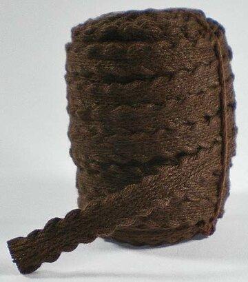 Gevlochten bandje bruin
