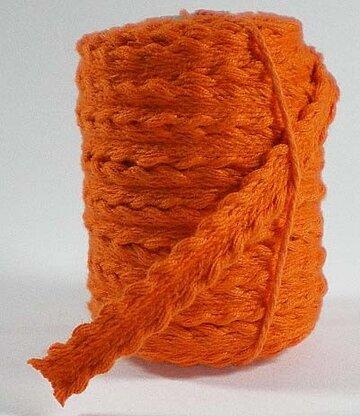 Gevlochten bandje oranje