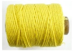 Cotton cord, geel