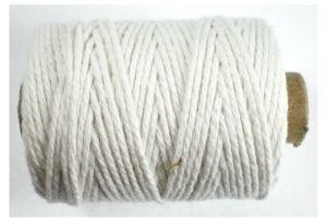Cotton cord, wit