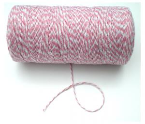 Roze/wit koordje, 219 mtr