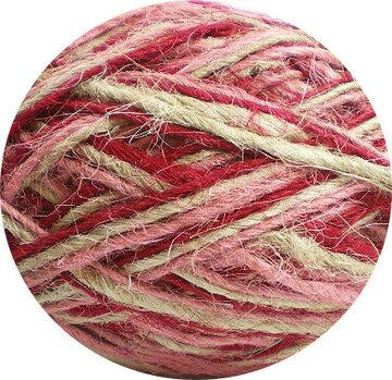 Flaxkoord trico naturel roze