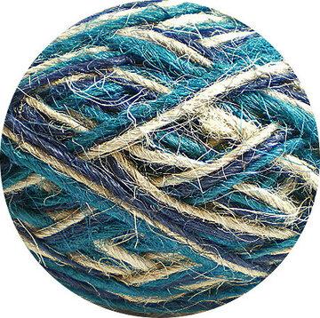 Flaxkoord trico naturel blauw