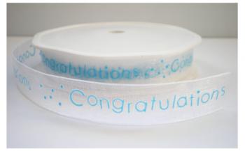 Congratulation lint blauw