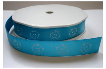 Blauw babyboy lint 16mm