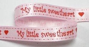 Sweetheart lint,roze/rood