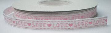 Wit/roze Love lint
