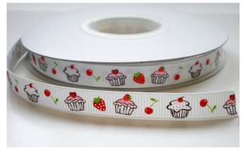 Wit taartjes lint, 10mm