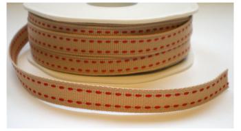 Naurel cotton met rode stitch