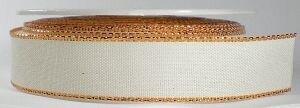 Metalic edge creme/copper lint ,breed