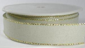 Metalic edge zand/goud lint, breed