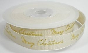 Cotton merry christmas lint ,goud