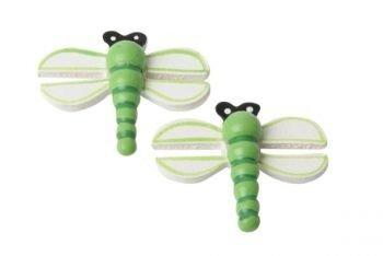 Libelle groen plakdecoratie