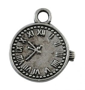 Zilverkleurige klok bedel, 19mm
