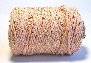 Cotton cord oud roze/goud