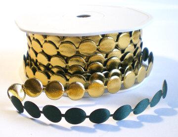 Perla mosgroen/goud bandje