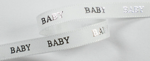 Baby lint wit|zilver