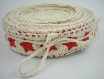Rood sterren cotton lint
