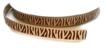 Zebra lint bruin 16mm