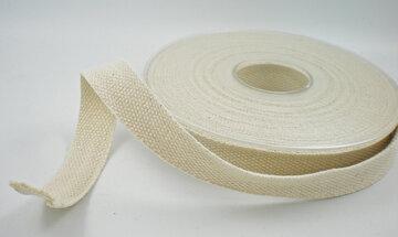 Katoen lint naturel 15mm